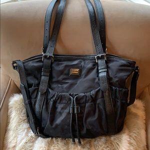 Burberry Black Tonal Nova Check Nylon Tote Bag